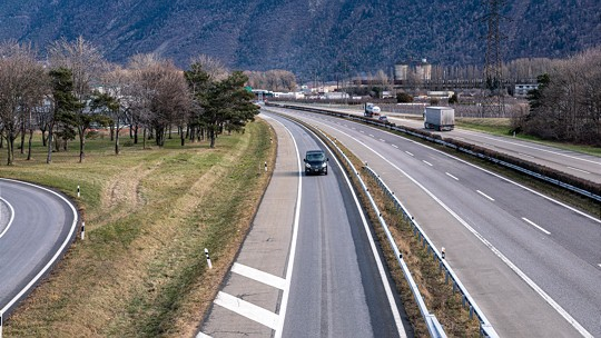 A9 contre-route Martigny-Fully